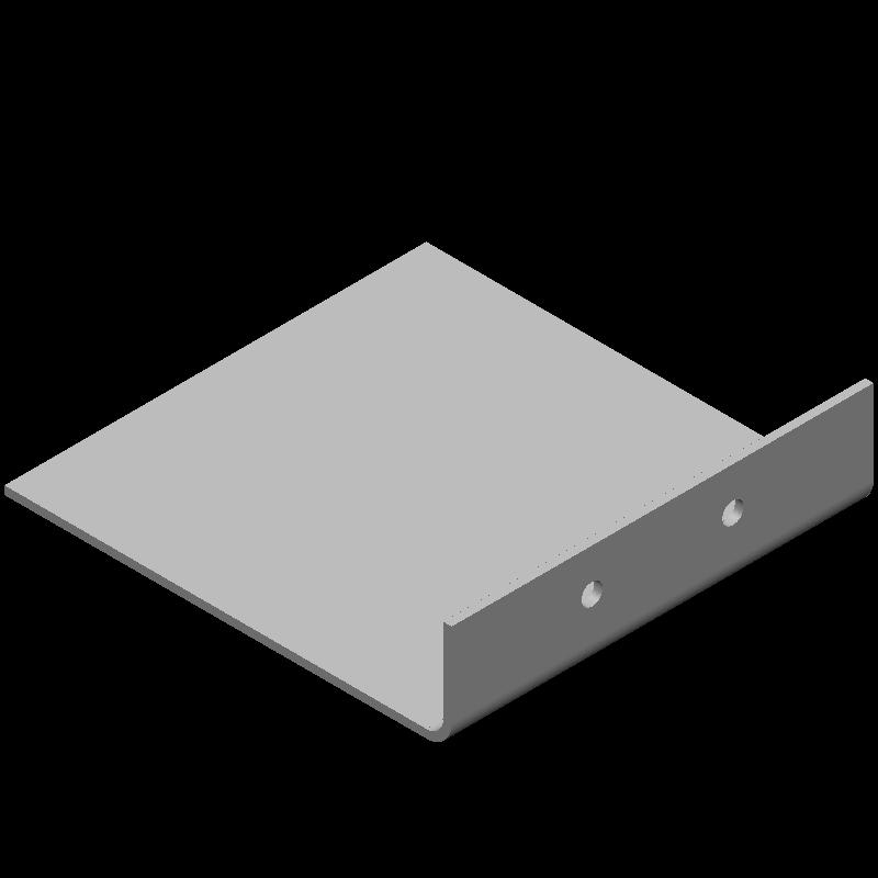 不等辺L字ワイドブラケット(同径,2穴)