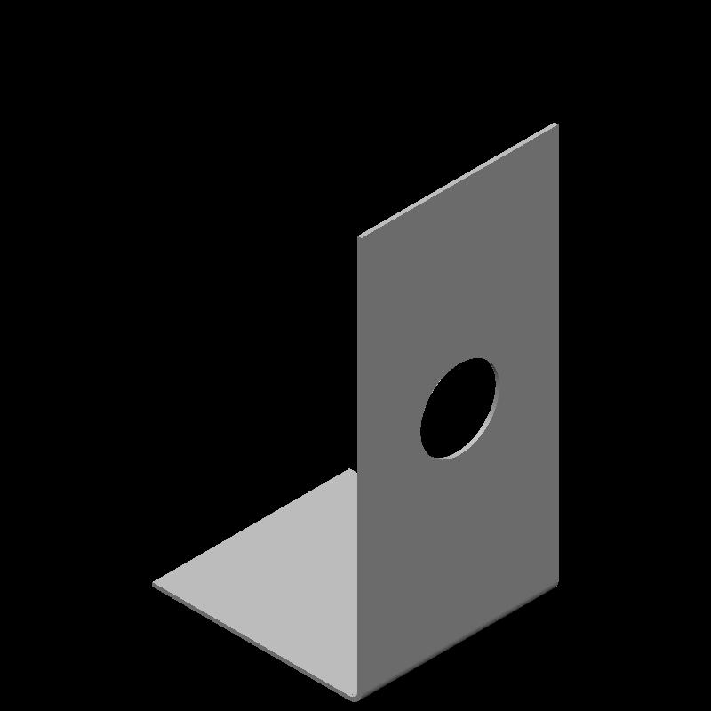 不等辺L字ブラケット(1穴)
