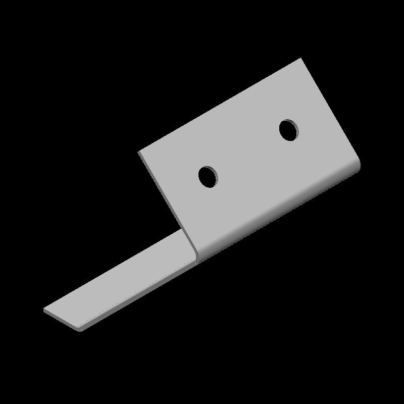 傾斜引っ掛け金具(同径,2穴)
