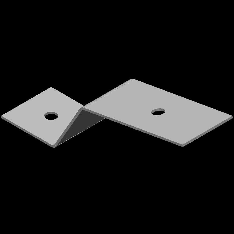 Z型金具(同径,2穴)