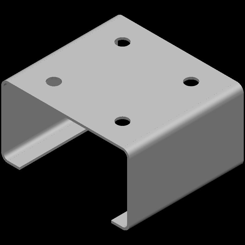 Cチャンネル(同径,4穴)