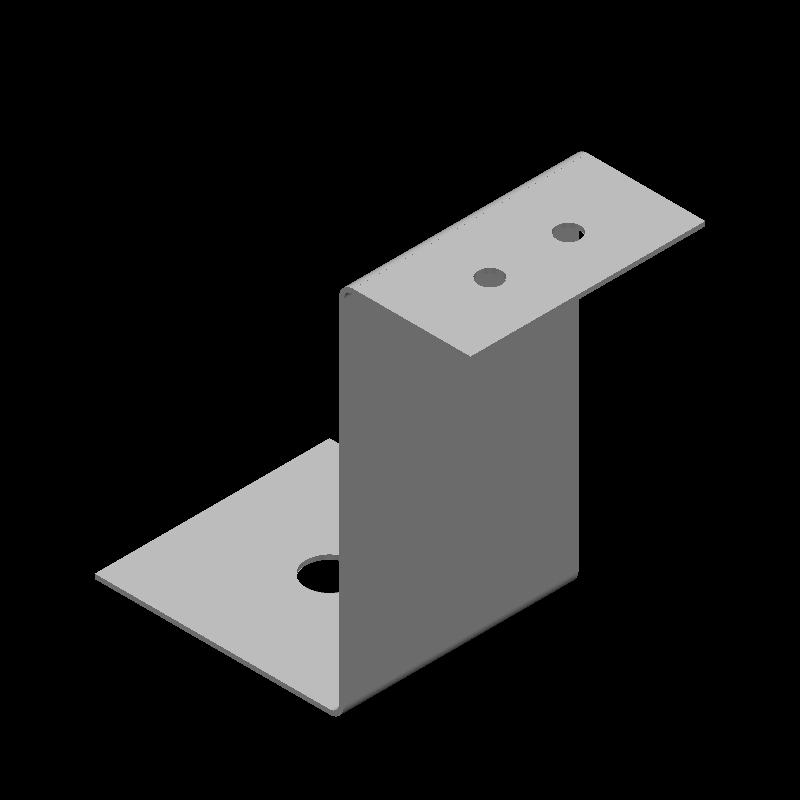 Z型金具(異径,3穴)