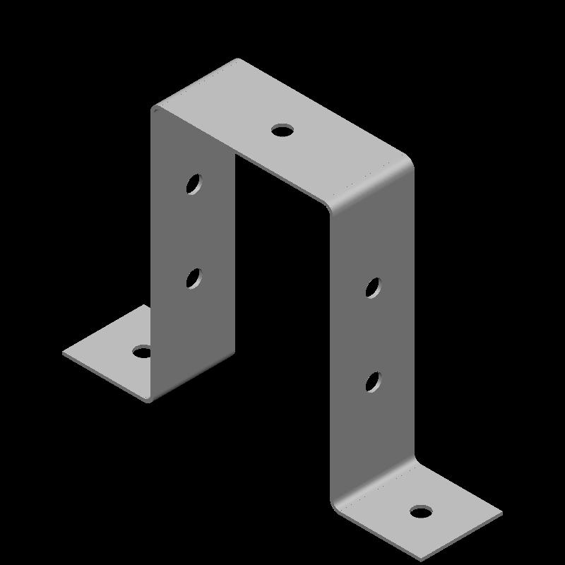 ハット金具(同径,7穴)