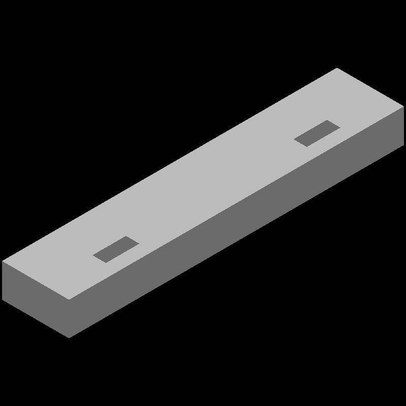 ブロック(同径,2穴)