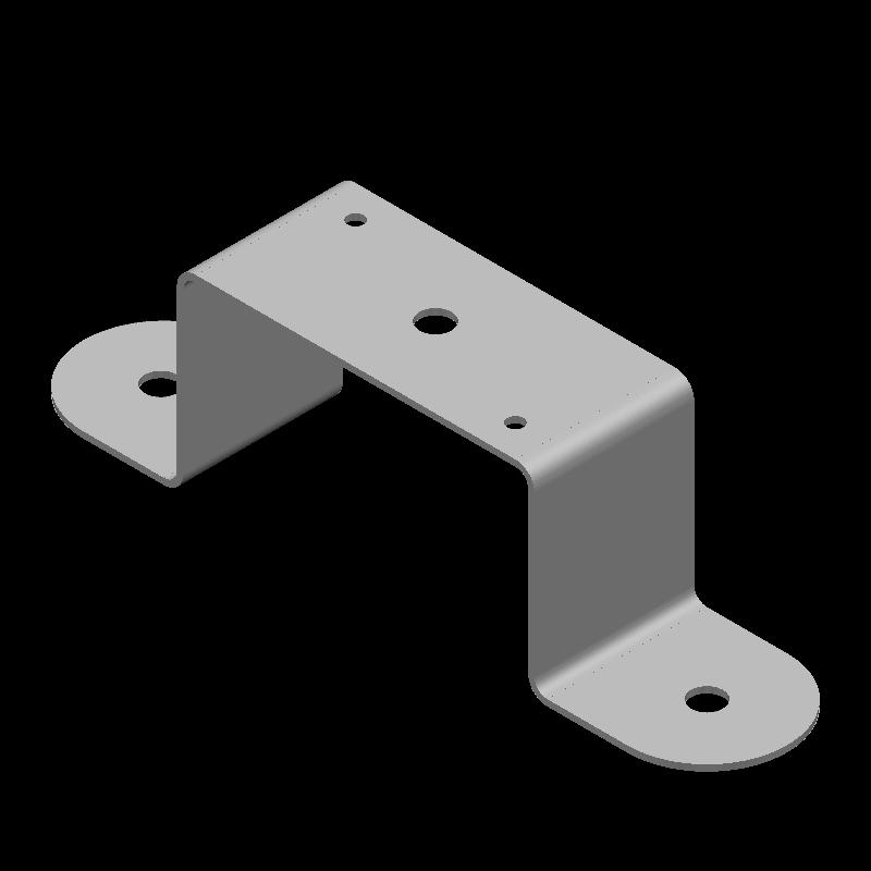 端面丸形ハット金具(異径,5穴)