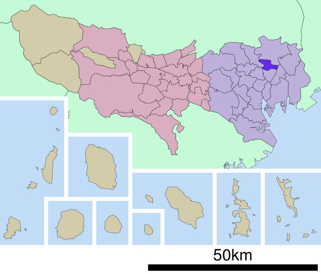 荒川の地図