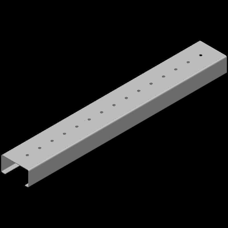 ロングCチャンネル(同径,15穴)