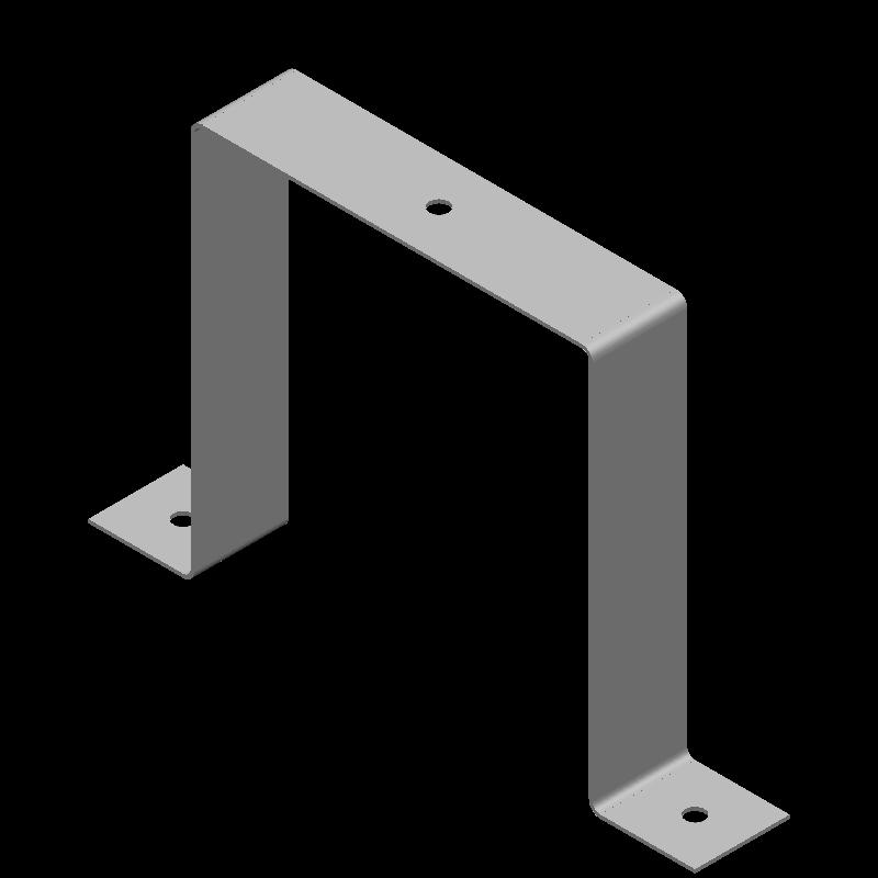 ハット金具(同径,3穴)