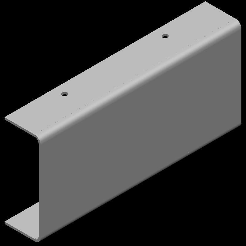 不等辺チャンネル(同径,4穴)