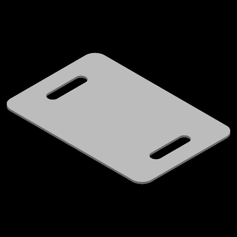 角丸I字プレート(同径,2穴)