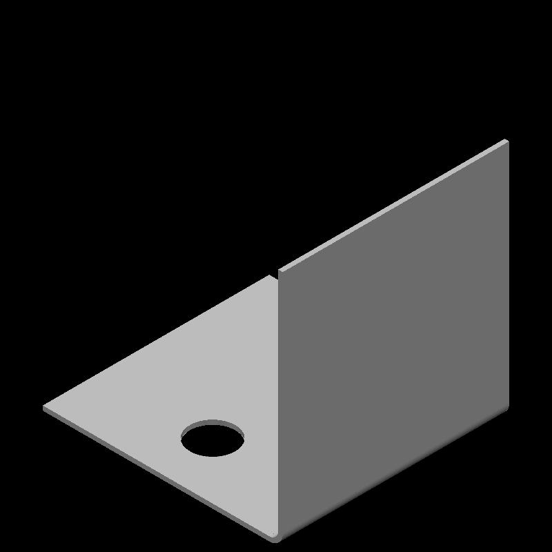 等辺L字ブラケット(同径,2穴)