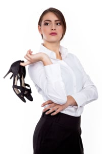 Dancers can protect their feet by breaking up with high heels for good!