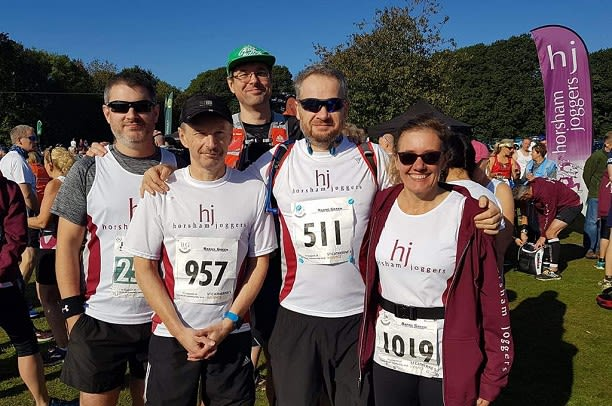 Matt, me, Rob, Roger and Helen before the race