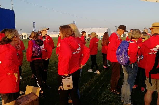 London marathon volunteers
