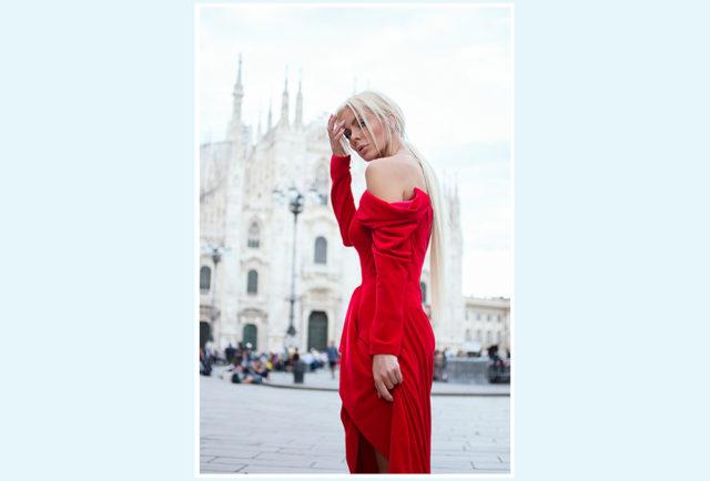 Лук дня: Алиса Лобанова в роскошном красном платье Yana Dress