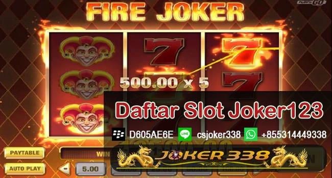 Daftar Slot Game Joker123