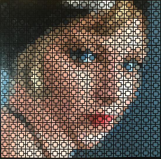 Flapper Girl Pixel Art by Justin Blayney