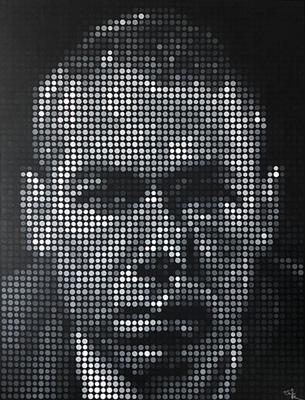 MCA  Adam Yauch Pixel Painting by Justin Blayney