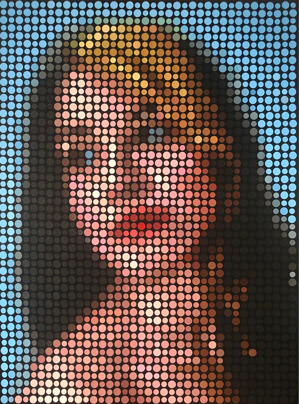 Stella Revisited Pixel Painting by Justin Blayney