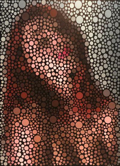 dane joyful pixel painting by Justin Blayney