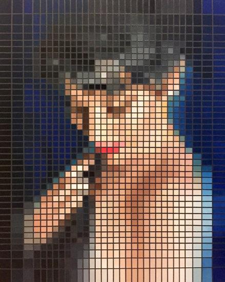 Vivi pixel painting by Justin Blayney