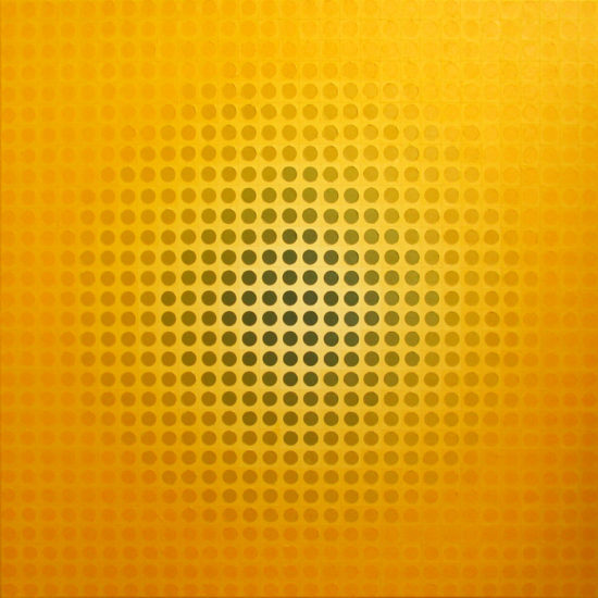 Transitions in Brightness, op art painting by Justin Blayney