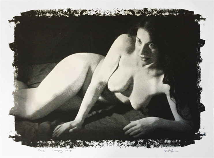 Lounging Nude by Justin Blayney