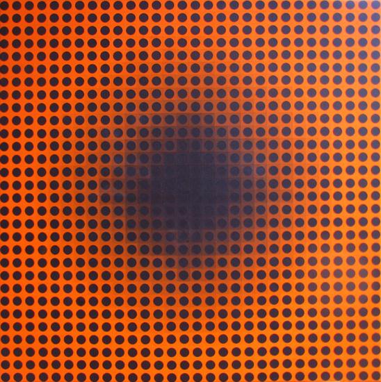 Depth Pixel Painting, op art painting by Justin Blayney