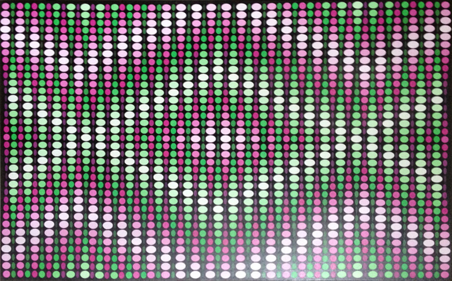 precession, op art painting by Justin Blayney
