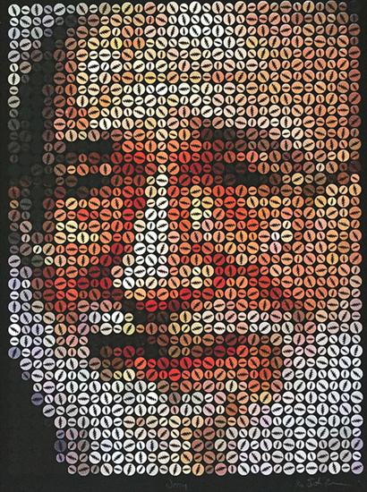 Jerry Garcia, Screen Pring by Justin Blayney