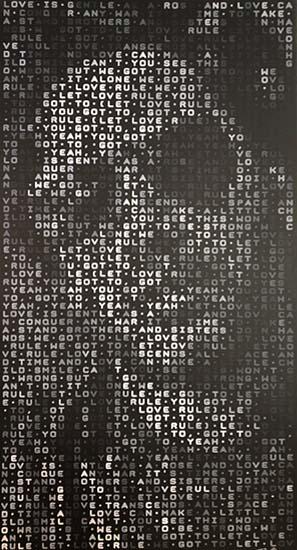 Let Love Rule Lenny Kravitz pixel painting