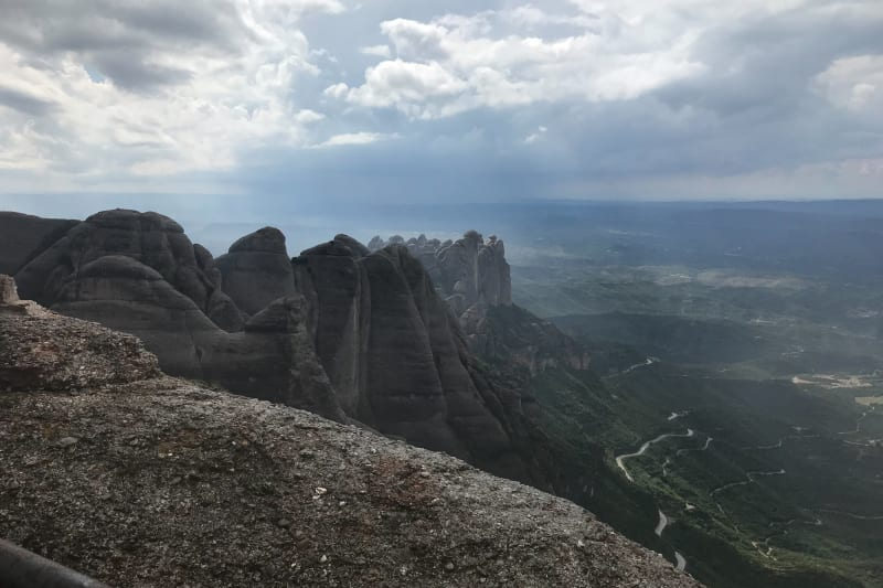 A photo of some mountains in Montserrat as seen from the peak of Sant Jeroni