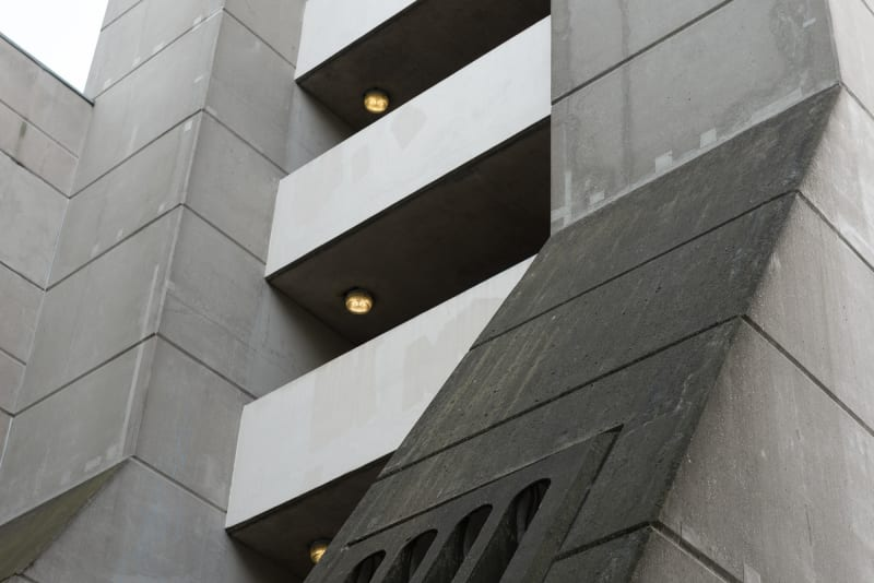 A detail of one of the Brunswick Centre's stairwells from the side.