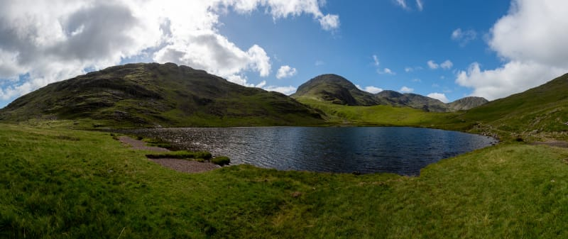 A small tarn on the approach to Scafell Pike.