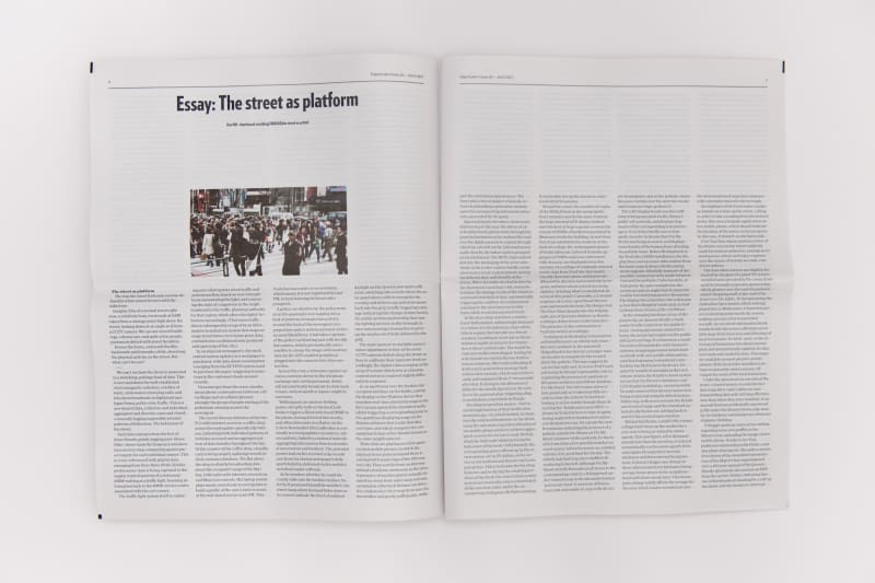 Photo of a newspaper spread.