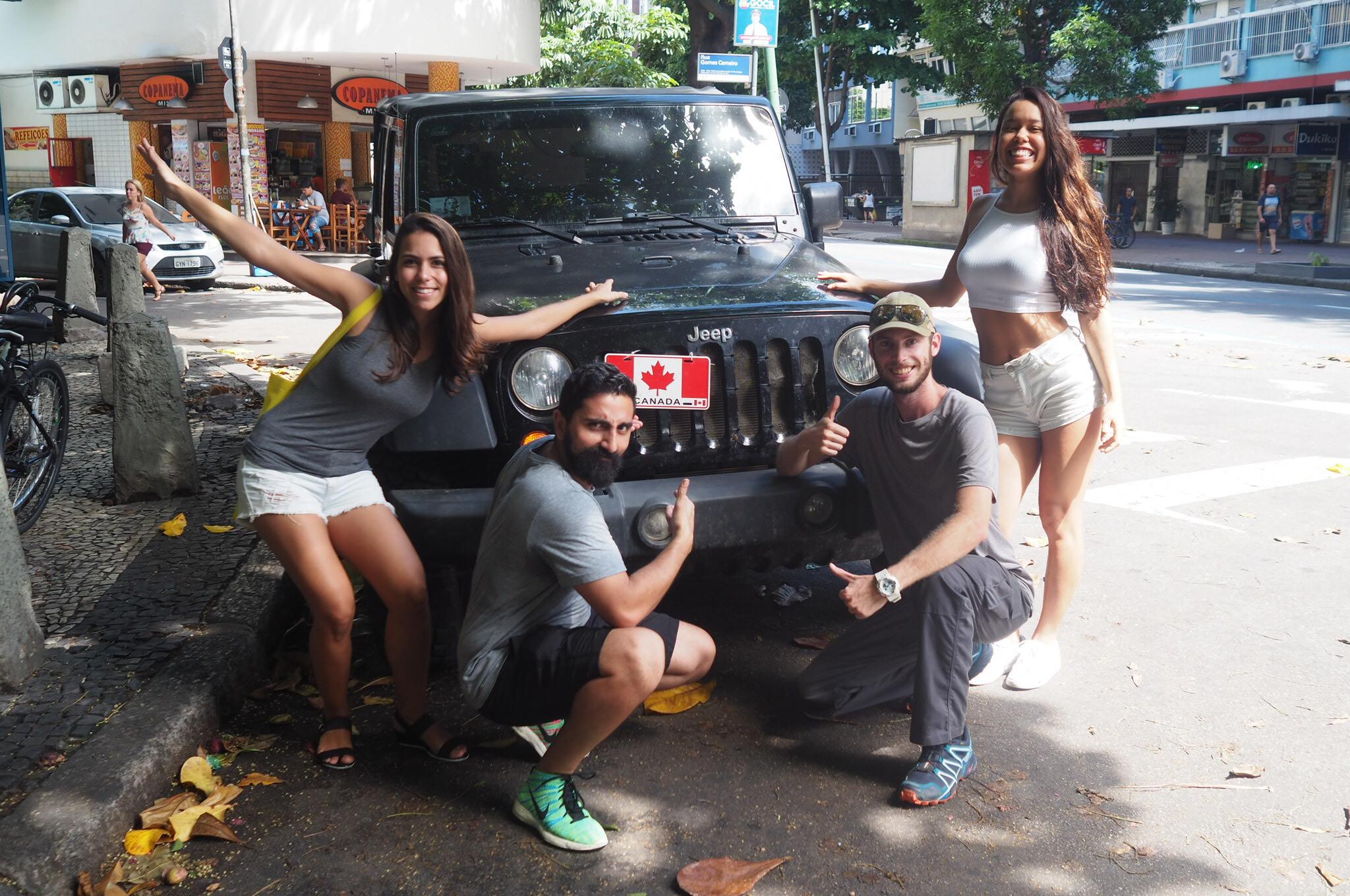 Jeep Wrangler in Rio de Janeiro, Brazil