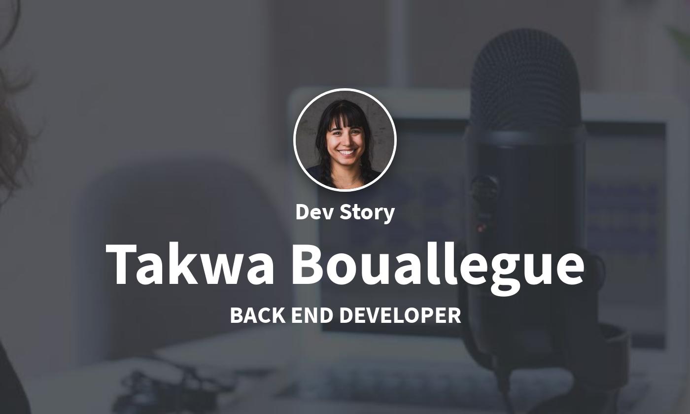 DevStory: Back End Developer, Takwa Bouallegue von Parkside