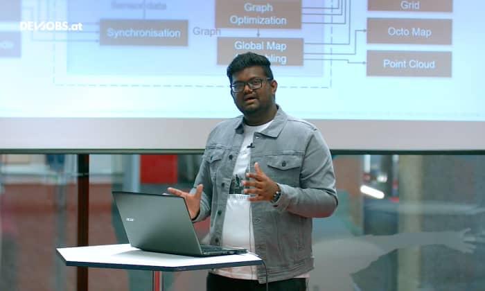 "Tech Talk: ""How Do Robots Create Maps?"" mit Sprince Jeberson"
