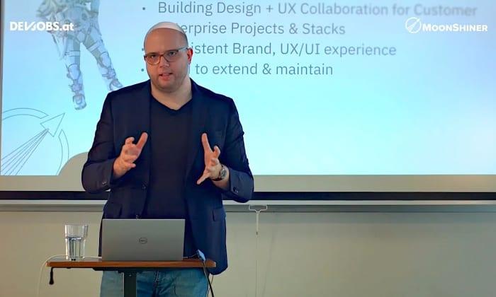 """Tech Talk: """"Building Web Development Ecosystems"""" mit Fabian Hippmann von Moonshiner"""