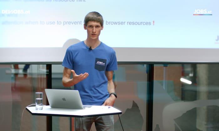 """Tech Talk: """"How we optimize our Front End"""" mit Jürgen Ratzenböck von jobs.at"""