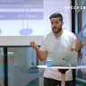 """Tech Talk: """"Hexagonal Architecture"""" mit Thomas Wimmer von netcetera Logo"""