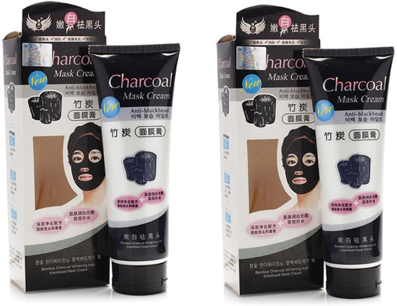 CHARCOAL Face Mask Cream Anti Blackhead Peel Of Mask (Pack Of 2) Price in India