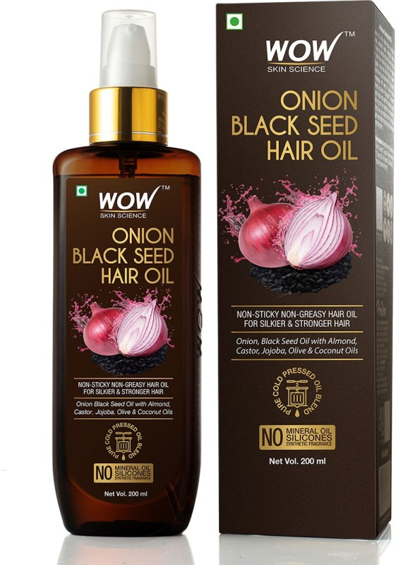 WOW Skin Science Onion Black Seed 200mL Hair Oil Price in India