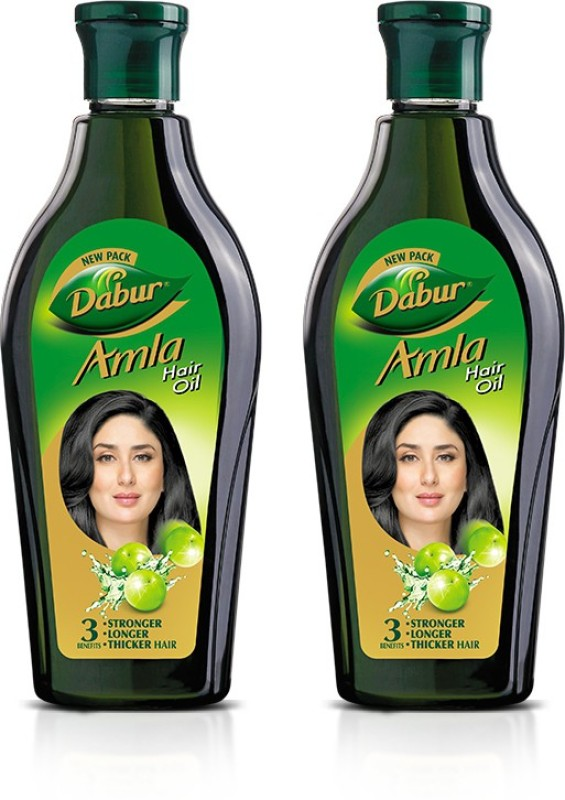 Dabur Amla Hair Oil for Long, Healthy and Strong Hair, 450 ml (Pack of 2) Hair Oil Price in India