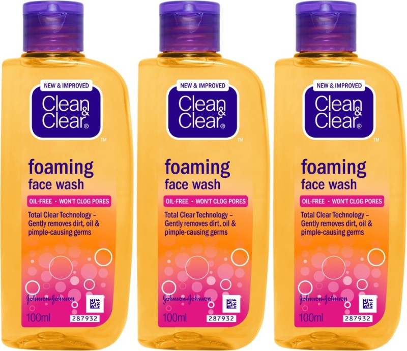 Clean & Clear Oil Free Foaming Face Wash Price in India