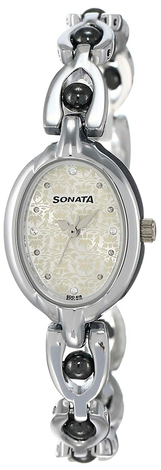Sonata Analog Multicolor Dial Women's Watch -NK8048SM04 Price in India