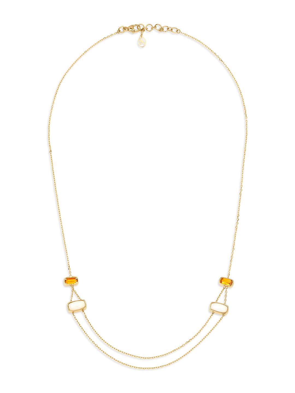 Mia by Tanishq 14-Karat Yellow Gold Dark Citrine Chain Price in India