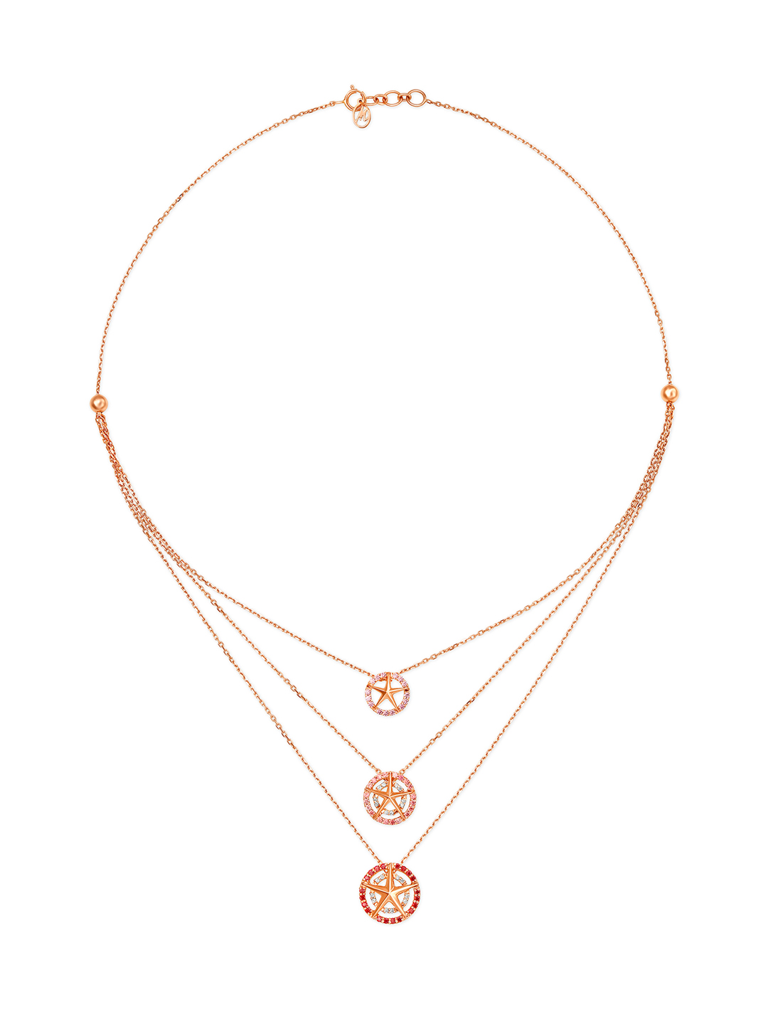 Mia by Tanishq 14KT Rose Gold Cubic Zirconia Neckwear Price in India