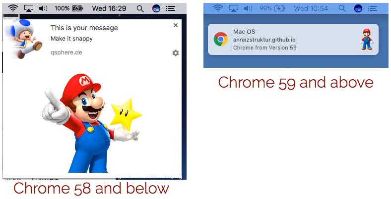 Web Push Changes in Chrome 59