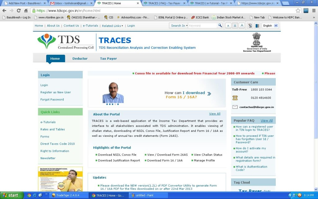 Traces View Tds And Tcs Online Form 26as